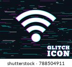 glitch effect. wifi sign. wi fi ... | Shutterstock .eps vector #788504911