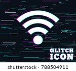 glitch effect. wifi sign. wi fi ... | Shutterstock .eps vector #788504911