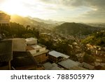 panorama of favela in rio de... | Shutterstock . vector #788505979