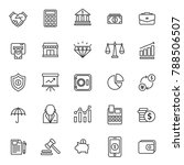 finance thin line icon | Shutterstock .eps vector #788506507