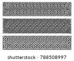 celtic knots medieval border...   Shutterstock .eps vector #788508997