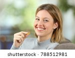 portrait of a happy woman... | Shutterstock . vector #788512981