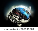 earth cataclysm. global warming ... | Shutterstock . vector #788515381