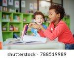 preschool boys kid playing... | Shutterstock . vector #788519989