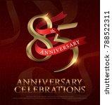 85th years anniversary... | Shutterstock .eps vector #788522311