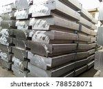 aluminum ingots. transportation ... | Shutterstock . vector #788528071