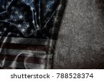 usa flag vintage background | Shutterstock . vector #788528374