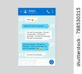 social network messenger frame... | Shutterstock .eps vector #788530315