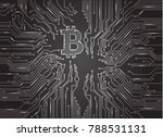 digital bitcoin crypto currency ...   Shutterstock .eps vector #788531131