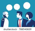 artific intelligence. person... | Shutterstock .eps vector #788540839