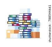 stack of office folders... | Shutterstock .eps vector #788544661