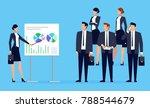 presentation. businesswoman... | Shutterstock .eps vector #788544679