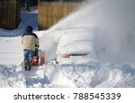 man removing snow on the... | Shutterstock . vector #788545339