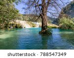 cascada tamul huasteca potosina | Shutterstock . vector #788547349