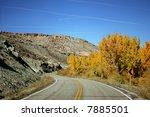 road through high desert in... | Shutterstock . vector #7885501