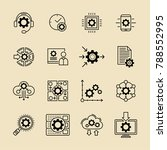 configuration options and... | Shutterstock .eps vector #788552995