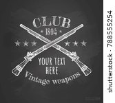 vintage weapons club logo...   Shutterstock .eps vector #788555254