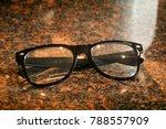business reading eyeglasses on... | Shutterstock . vector #788557909