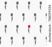 tulips seamless pattern. vector ... | Shutterstock .eps vector #788559334
