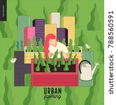 urban farming  gardening or...   Shutterstock .eps vector #788560591