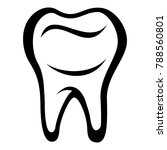 tooth icon. simple illustration ... | Shutterstock .eps vector #788560801