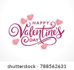 happy valentine's day... | Shutterstock .eps vector #788562631