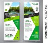 business roll up. standee... | Shutterstock .eps vector #788564551