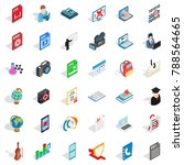 computer screen icons set.... | Shutterstock .eps vector #788564665