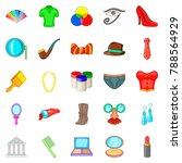 formalization icons set.... | Shutterstock .eps vector #788564929