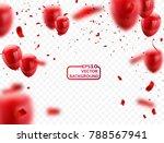 red white balloons  confetti... | Shutterstock .eps vector #788567941