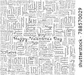 valentine's day love background ... | Shutterstock .eps vector #788570029
