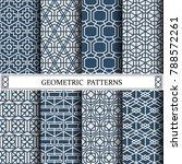hexagon geometric vector... | Shutterstock .eps vector #788572261