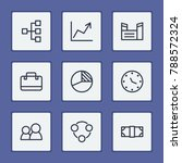 economy icons set with factory  ...