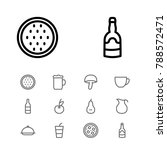 nutrition icons set with milk ...