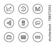 economy icons set with pc ...