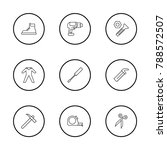instrument icons set with ppe ...