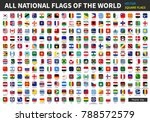 all official national flags of... | Shutterstock .eps vector #788572579