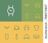 wear icons set with swimwear ...