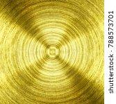 A Metal Gold Iron With Circula...