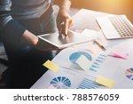 business man holding  digital... | Shutterstock . vector #788576059