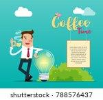 businessman enjoying a coffee... | Shutterstock .eps vector #788576437