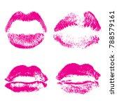 set of fashion beauty women...   Shutterstock .eps vector #788579161
