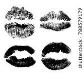 female kiss shape lips... | Shutterstock .eps vector #788579179