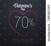 valentine day sales  special...   Shutterstock .eps vector #788582395