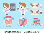 woman with thyroid cancer on... | Shutterstock .eps vector #788583379