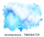 abstract blue watercolor splash ... | Shutterstock . vector #788584729