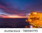 offshore oil and gas rig... | Shutterstock . vector #788584795