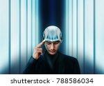 artificial intelligence working ... | Shutterstock . vector #788586034