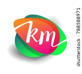 letter km logo with colorful... | Shutterstock .eps vector #788588971