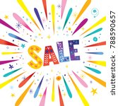 sale banner with burst explosion | Shutterstock .eps vector #788590657